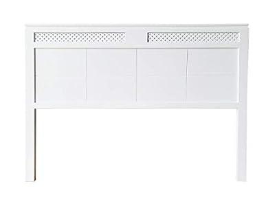 materiales: madera maciza de pino insigni medidas: 145 x 120 x 3 (ancho,alto,grueso) acabado: blanco mate cabecero de una pieza con anclajes para la pared