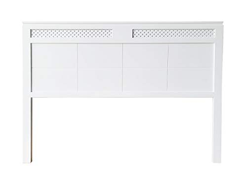 cabecero Siena Fabricado en Madera Maciza de Pino insigni Acabado en Blanco (para Cama de 90 (100 x 120 cm), Celosía)