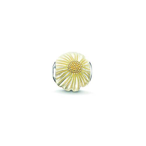 Thomas Sabo Damen-Bead Margerite Karma Beads 925 Sterling Silber gelb K0200-007-4