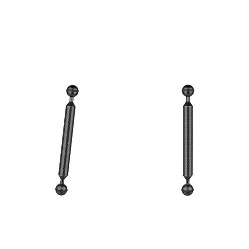 Amuzocity 3 barras de extensión para brazo sumergible con cabeza esférica para cámara sumergible negra (8 unidades)