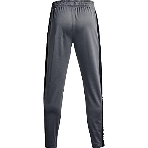Under Armour Men's Brawler Pants , Pitch Gray (012)/White , Large