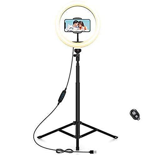 Anillo De Luz Led, con Trípode - Control Remoto 2 Trípodes Alternativos, Anillo De Luz para Selfie De 10.2'con Soporte para Teléfono Móvil, para Youtube Tiktok En Vivo