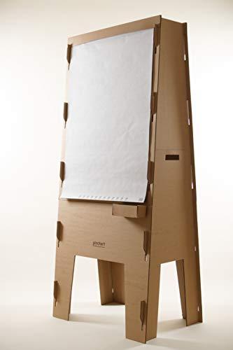Flipchart - Pinchart Pappe, auch als Moderationswand, Pinwand, leicht, tragbar und mobil, agil und zweiseitig, umweltfreundlich und regional