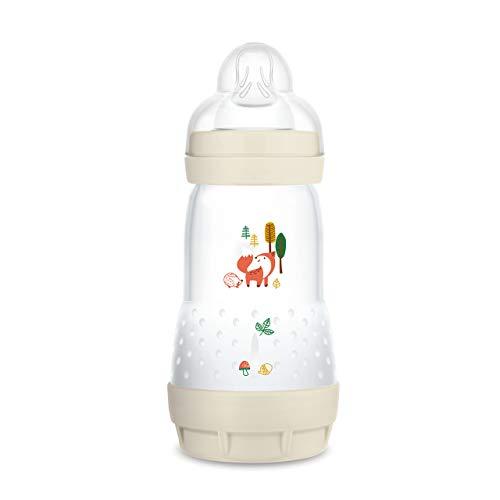 MAM Easy Start Anti-Colic Elements Babyflasche (260 ml), Milchflasche für die Kombination mit dem Stillen, Baby Trinkflasche mit Bodenventil gegen Koliken und Sauger Größe 1, 0+ Monate, Fuchs