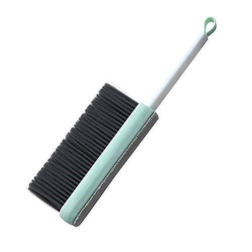 Atrumly Cepillo de limpieza,cepillo para quitar el pelo del sofá,cepillo adhesivo para ropa para escritorios,removedor de pelo de mascotas,mango resistente integrado con base de autolimpiación (azul)