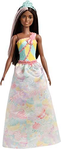 Barbie FXT16 - Dreamtopia Prinzessin Puppe mit schwarzen Haaren und Regenbogen Outfit, Puppen Spielzeug und Puppenzubehör ab 3 Jahren