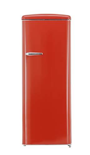 Exquisit RKS 325-16 RVA++Rot Retro-Kühlschrank/EEK: A++/229 Liter/Retro-Handgriff/LED-Innenbeleuchtung/Rot