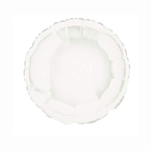 Unique Party- Globo foil helio redondo, Color blanco, 45 cm (53341) , color/modelo surtido