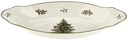 Spode Christmas Tree Handled Serving Platter 15.25'