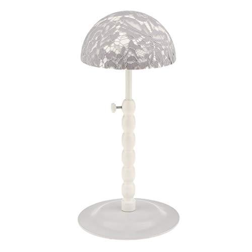Tubayia Metall Verstellbar Hutständer Perückenständer Hut Display Rack für Frisörsalon/Geschäft/Haus