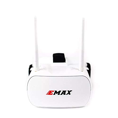 FairOnly Emax Tinyhawk 5.8G 48CH Diversity FPV-Schutzbrille 4,3 Zoll 480 * 320 Video-Headset mit Dual-Antennen 4,2 V 1800 mAh Batterie für RC-Drohne Spielzeuge