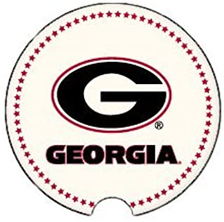 Coasting & Hosting Absorbent Car Coaster NCAA University of Georgia Bulldogs