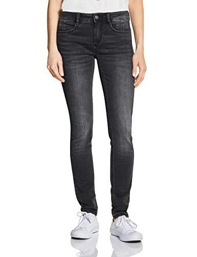 Street One Damen 372468 York Fit Slim Jeans, Schwarz (Black Random Bleach 11994), W29/L32 (Herstellergröße:29)
