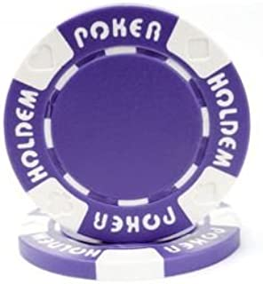 12.2gm Set of 50 Trademark Poker 10-COIN5000-50 Jackpot Coin-Inlaid Poker Chips