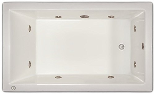 Signature Bath LPI18-W-LD Drop-In Whirlpool Bathtub with Stainless Jets - Left Drain, White