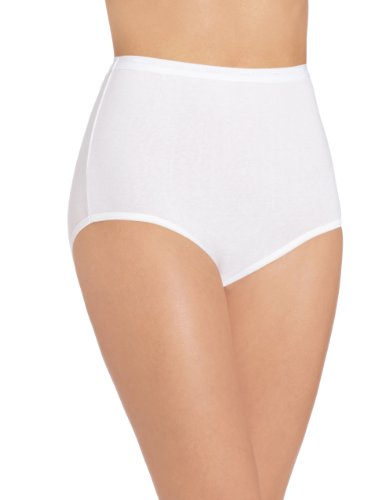 Bali Women's Stretch Brief Panty, White, 10