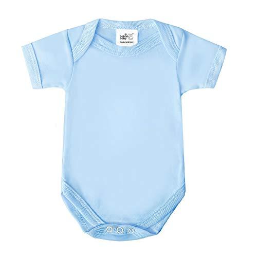Baby Gift Set, Britse Gemaakt Katoen Bodysuits, Slaappakken en Deken voor Jongens of Meisjes Newborn Blauw