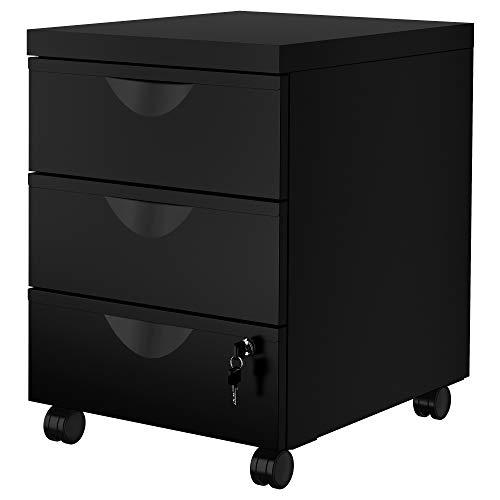 IKEA.. 203.410.03 Erik - Cajonera con 3 cajones sobre Ruedas, Color Negro