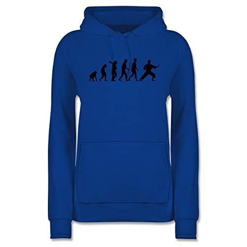 Evolution - Kampfsport Evolution - S - Royalblau - Kapuzenpullover Karate - JH001F - Damen Hoodie und Kapuzenpullover für Frauen