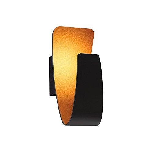 Applique Design LED Pretty noire lampe dorée