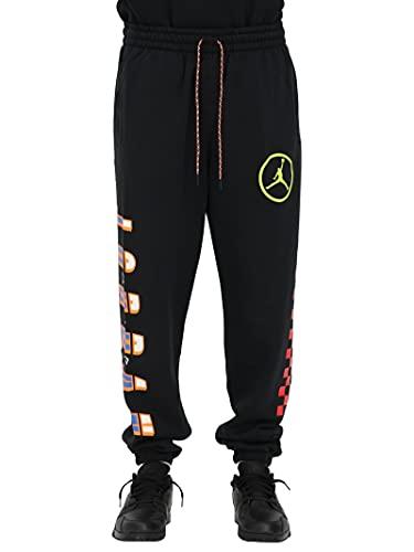 Nike Air Jordan Dna - Pantalón chándal para hombre de tela negra con cintura elástica CV2979-010 Negro XS