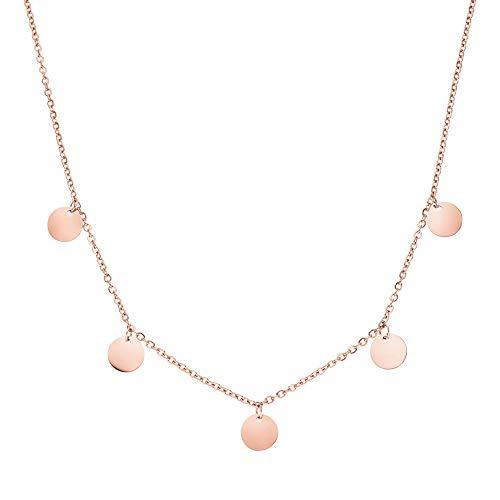 PURELEI® Kalea Halskette (RoseGold) Mit Anhänger (40/45 cm Länge)