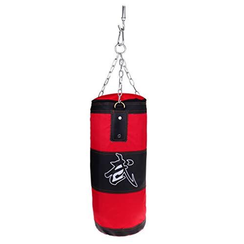 CUTICATE Kampfsport Boxsack Leer Sacksack + Stahlkette + Deckenhalterung Ø 40 cm in verschiedenen Längen - 50 cm