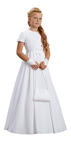YES Arlette Kommunionkleid Kleid Kommunion Kommunionskleid, weiß, 134