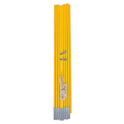Best Sporting Fiberglas Stab für Zelte, Gelb, 9-teilig, Länge 450 cm