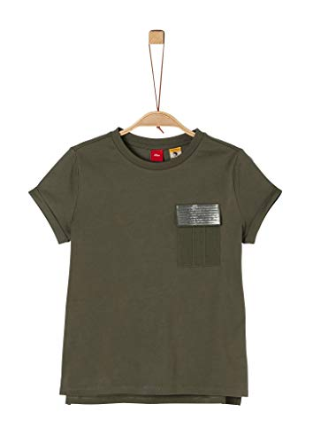 s.Oliver Junior 401.10.004.12.130.2020494 T-Shirt, Mädchen, Grün M REG