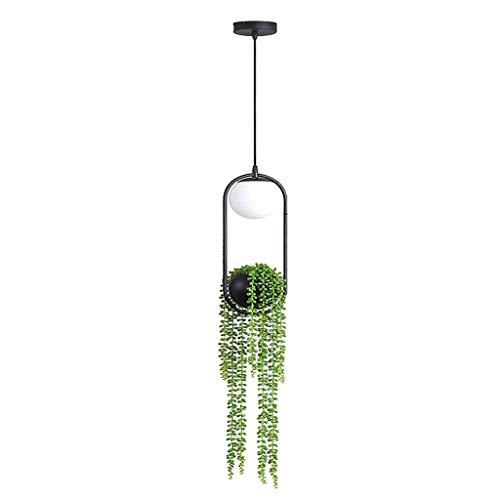 HINK Lámpara de araña de Planta nórdica, Maceta, Pasillo, Restaurante, Hermoso Cielo, jardín, lámpara LED, hogar y jardín, luz LED