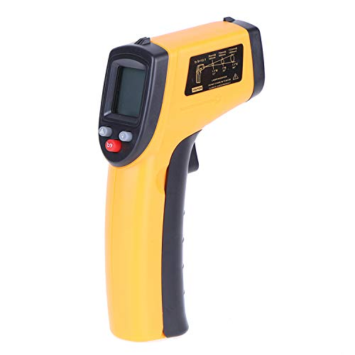 GoolRC Digital Infrared Thermometer Laser Temperature Gun Non-Contact with Backlight -50-380°C/-58℉-716℉ (Not Accurate for Human Temperature), Battery Not Included
