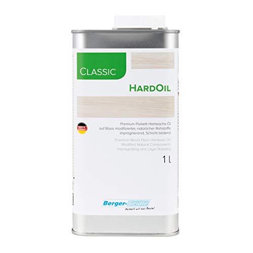 Berger-Seidle Classic Hardoil, polierfreie Tiefenimprägnierung, Hartöl für Parkett und Holzböden 1 Liter