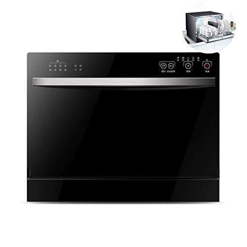 Barir Mesa lavavajillas doméstico Compacto Lavavajillas, rápido Limpieza 6 Setware, Tacto Operación, Ahorro de Electricidad for los Pequeño Apartamento Casa Cocina