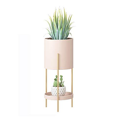 フラワースタンド プランタースタンド 鉢スタンド 多機能収納 植木鉢台 スタンド 2段式 花台 植物棚 屋外室内 多肉植物 (A型-S(small), ピンク)