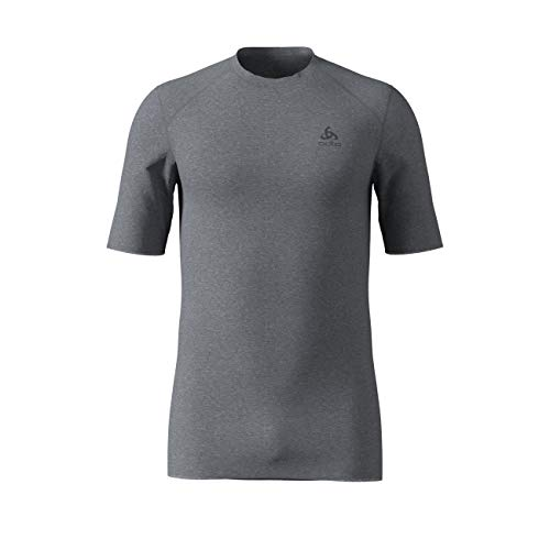 Odlo Herren Shirt Short Sleeve Crew Neck Warm Unterhemd, grey melange, M