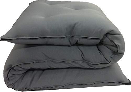"Twin Size Traditional Japanese Floor Futon Mattresses, Tatami Foldable Cushion Mats, Yoga, Meditaion 39"" Wide X 80"" Long (Gray)"