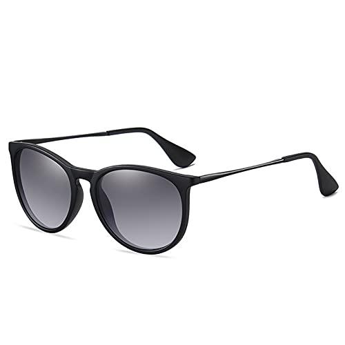 Muium(TM) Gafas de sol polarizadas para hombre, estilo vintage, unisex, redondas, con protección UV400, clásicas, de metal, estilo retro, polarizadas.