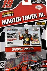 ACTION June 2019 Sonoma Raced Win Edition Martin Truex #19 Bass Pro 1/64 Scale Diecast with Victory Lane Collectors Card