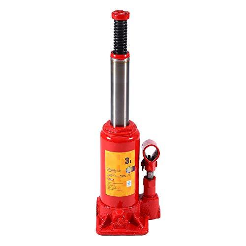 AYNEFY 3T Hydraulischer Wagenheber für Autos, Flaschenheber, vertikal, hydraulisch, für Autos, Lieferwagen, Traktoren, hydraulisch, für Autos, LKWs, Wohnwagen