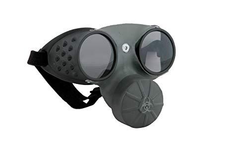 Elope Gas Mask, Grey/Black, One Size