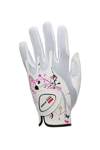 Price comparison product image BIRDIE TOWN JUPITER Womens Golf Glove - Breathable Synthetic Leather - One Size Fits Most (Pink,  Worn on Left Hand (Right Handed Golfer))