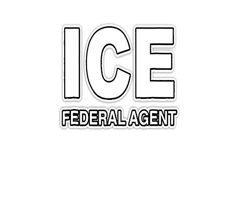 Sticker ICE Federal Agent Halloween Costume Police Immigration 3'×4' Decals for Laptop Window Car Bumper Helmet Water Bottle (3 PCs/Pack)