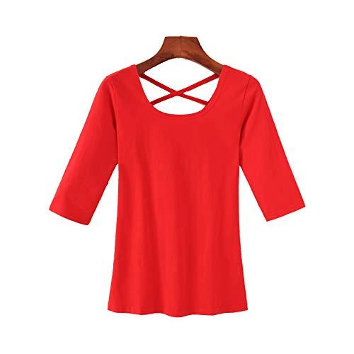 XIEPEI Camiseta para Correr para Mujer, de Corte Slim, Yoga Gym Training Fitness Shirt