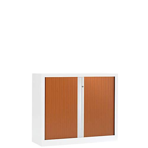 Armoire à rideaux ignifuge M2 | Blanc | Merisier | HxLxP 1000 x 1200 x 430 | Pierre Henry -