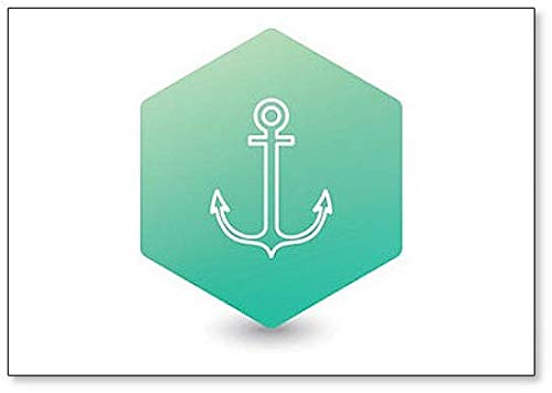 Nautical Anchor Illustration Koelkast Magneet