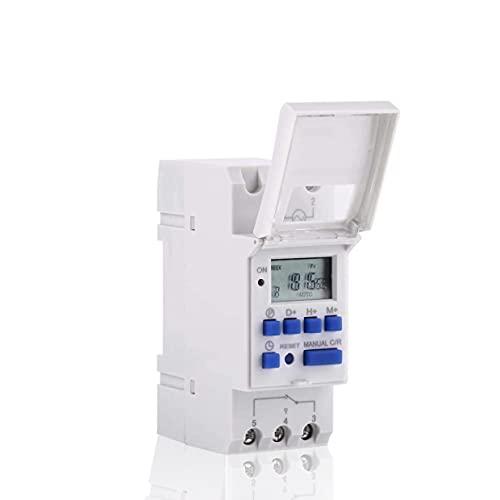 Akozon Temporizador Programable Digital con Pantalla LCD Temporizador de Tiempo de Retransmisión Programable(220V)