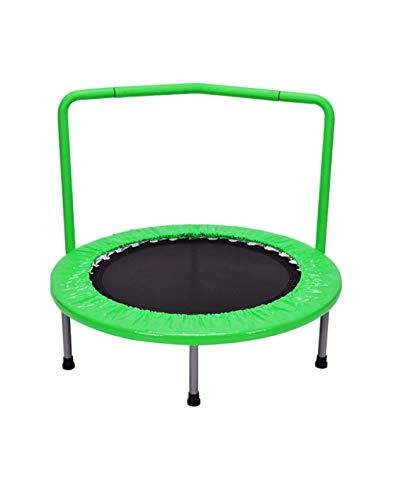 ZHAOJBC Trampoline voor kinderen, mini-veiligheid binnen, dikke stalen buis design randen, sport voor kinderen, 60 kg, 36 inch