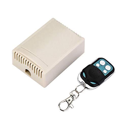 DAUERHAFT Transmisor con tecnología de codificación Sireless Receptor de 433 MHz Relé Estable de 4 Canales Tamaño pequeño, Puerta automática, Ventana