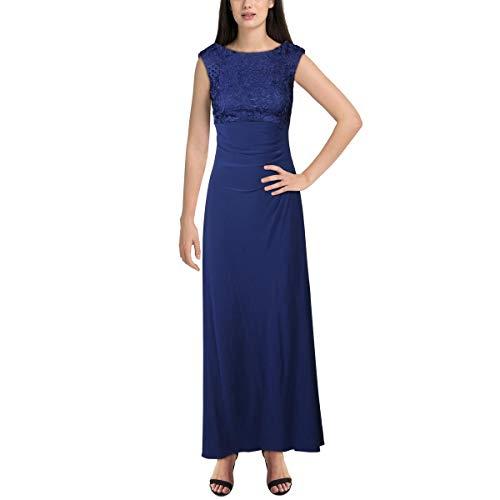 Alex Evenings Women's Long Cowl Back Dress (Petite and Regular), Royal, 8 (Apparel)